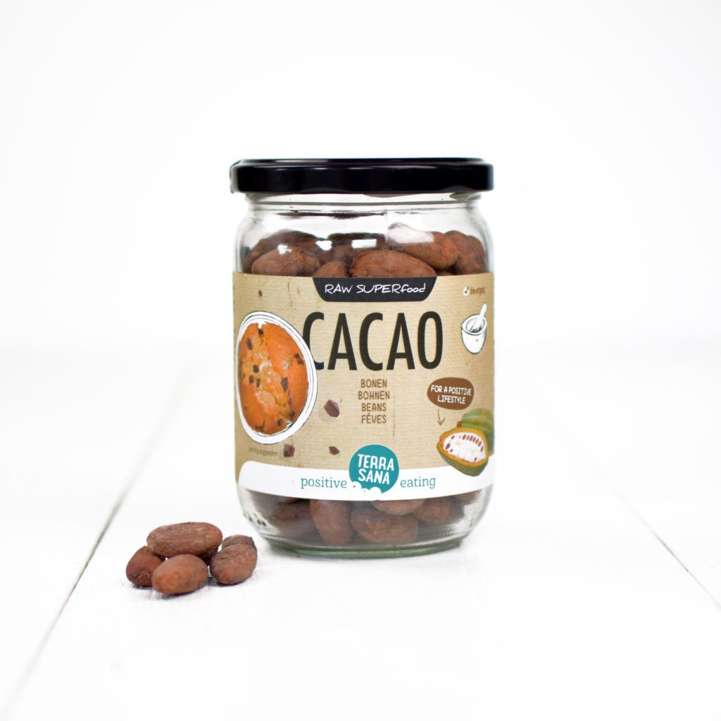 raw cacaobonen biologisch terrasana