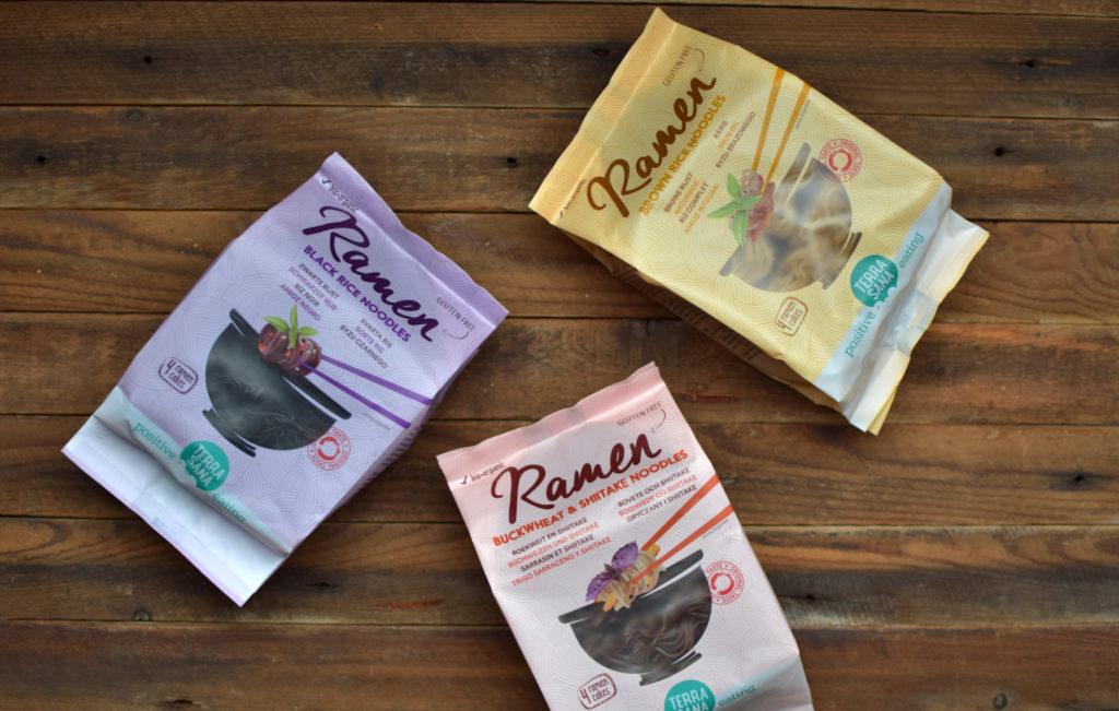 ramen noodles TerraSana in 3 soorten