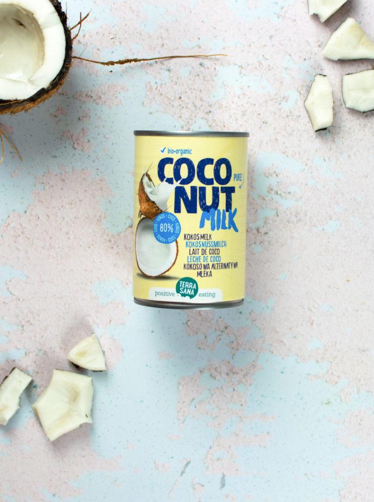 biologische kokosmelk van 80% kokos, zonder guargom