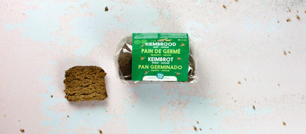 gekiemd brood, kiembrood van 100% spelt, gistvrij en zuurdesemvrij terrasana