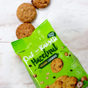 vegan cookies haver, hazelnoot en rozijn - ook glutenvrij, palmolievrij, sojavrij, zonder rietsuiker
